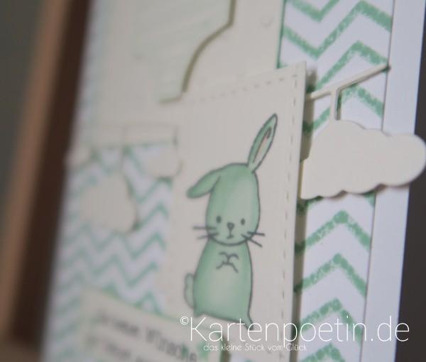 Der grüne Hase unter der Wolke