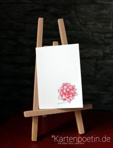 colorierte Blüte 1