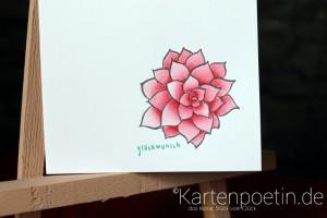 colorierte Blüte 3