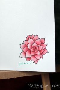 colorierte Blüte 4