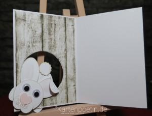 Osterkarte Hasenbau Punch Art I