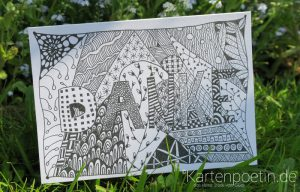 Zentangle Karte Dankeskarte