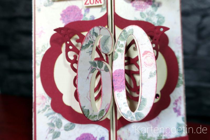 60. Geburtstag Aufklappkarte - So viele Jahre II