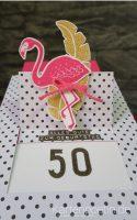 Flamingokarte StampinUP I
