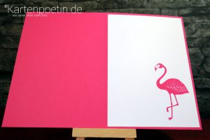 Flamingokarte StampinUP IV