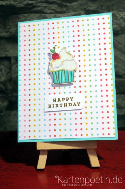 Geburtstagskarte Muffin