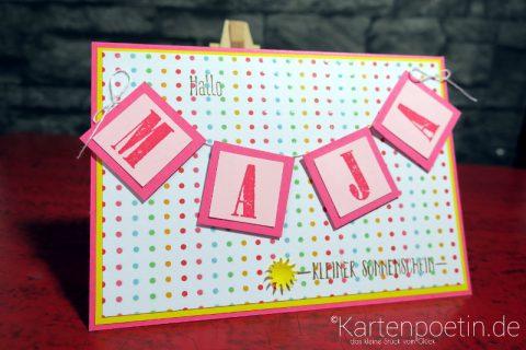 Babykarte mit Namen