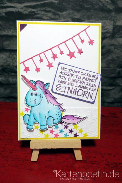 Einhorn Geburtstagskarte I