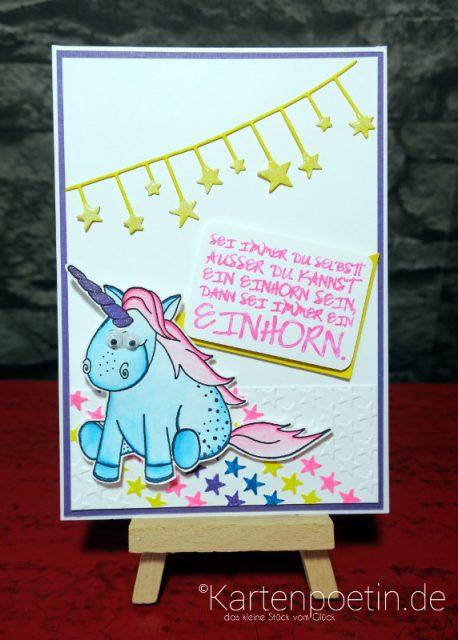 Einhorn Geburtstagskarte III