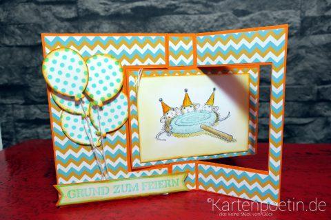 House Mouse Geburtstagskarte als Flipcard