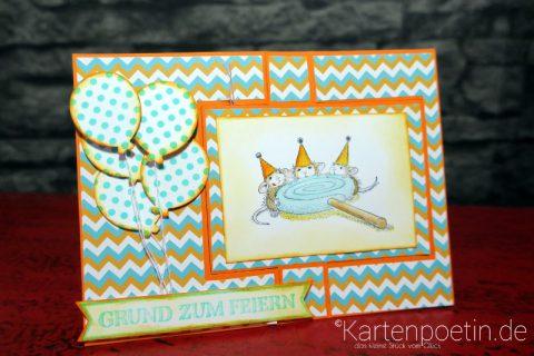 House Mouse Geburtstagskarte als Flipcard II