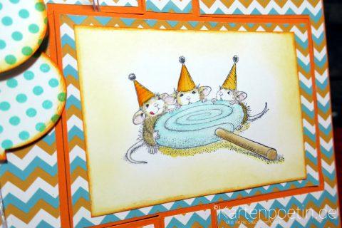 House Mouse Geburtstagskarte als Flipcard III