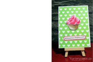 Muffin gefällig? Geburtstagskarte mit Muffin