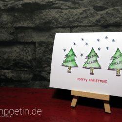 Weihnachtskarte Oh Tannenbaum