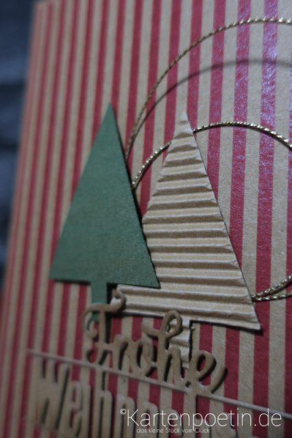 Weihnachtskarte in Kraft Braun