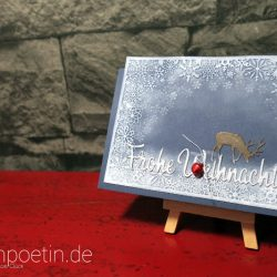Leise rieselt der Schnee… Weihnachtskarte