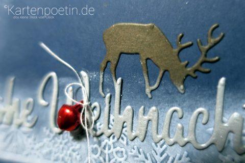 Weihnachtskarte verschneite Landschaft
