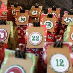 Adventskalender aus Milchtüten