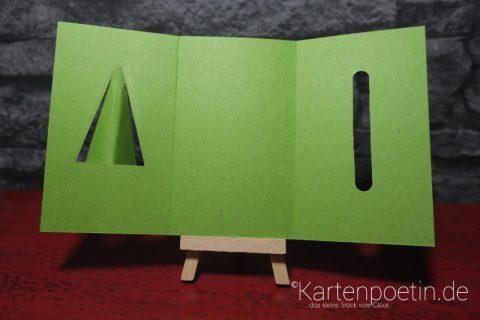 Weihnachtskarte Tannenbaum als Steckkarte