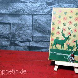 Schnelle Weihnachtskarte mit dem Deer Trio von Memory Box