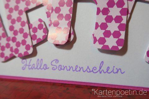 Babykarte als Namenskarte