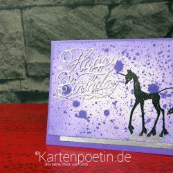 Einhorn Geburtstagskarte - Designteam-Beitrag Anne Fusselchen