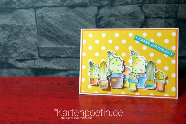 Geburtstagskarte mit Kakteen